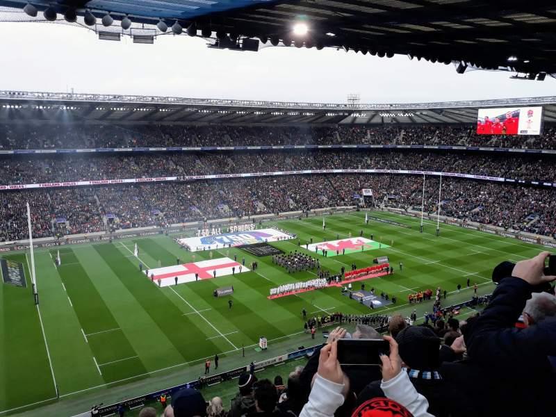 Vista sentada para Twickenham Stadium Secção U11 Fila L Lugar 291