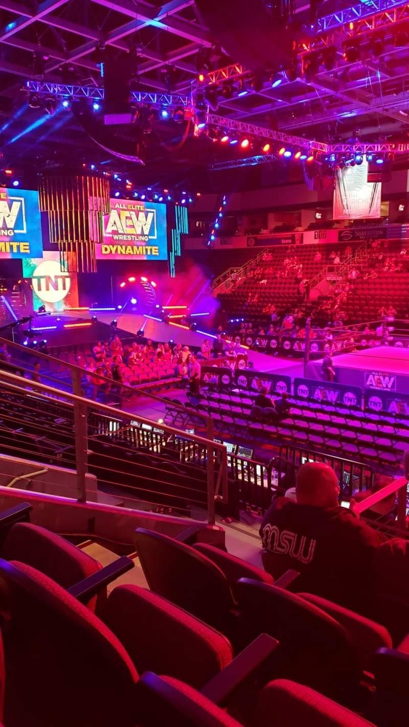 Vista sentada para Silverstein Eye Centers Arena Secção 107 Fila K Lugar 11