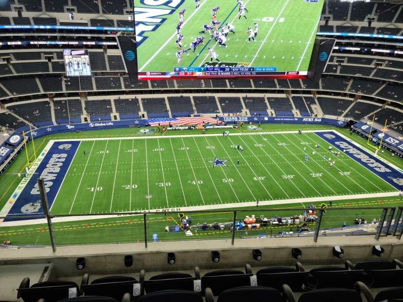 Vista sentada para AT&T Stadium Secção 444 Fila 12 Lugar 18