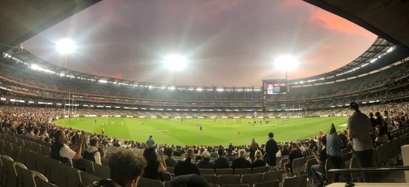 Vista sentada para Melbourne Cricket Ground Secção M52 Fila BB Lugar 5