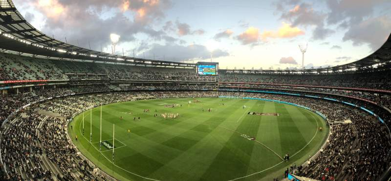 Vista sentada para Melbourne Cricket Ground Secção Q29 Fila A Lugar 5