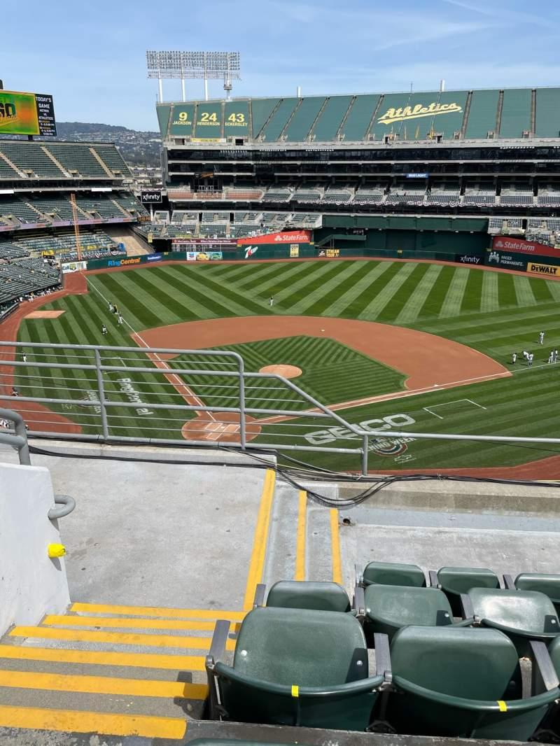 Vista sentada para Oakland Coliseum Secção 315 Fila 5 Lugar 16