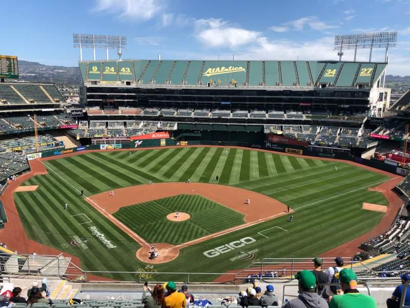 Vista sentada para Oakland Coliseum Secção 316 Fila 15 Lugar 4