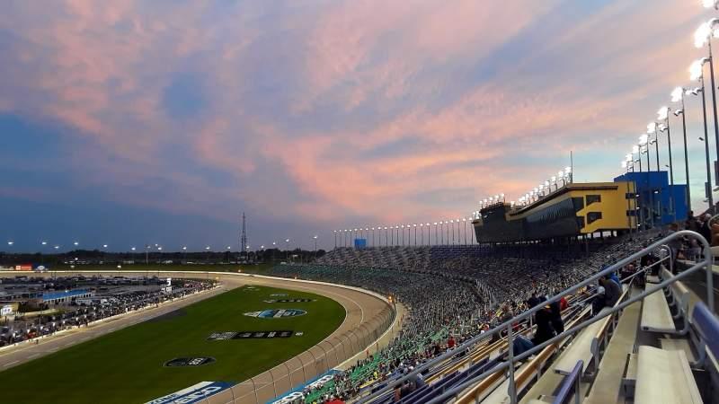 Vista sentada para Kansas Speedway Secção 256 Fila 59 Lugar 9