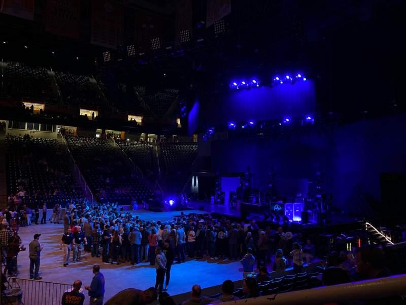 Vista sentada para Thompson-Boling Arena Secção 105 Fila 10 Lugar 1