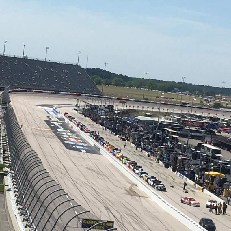 Vista sentada para Darlington Raceway Secção Brasington Section J Fila 29 Lugar 1