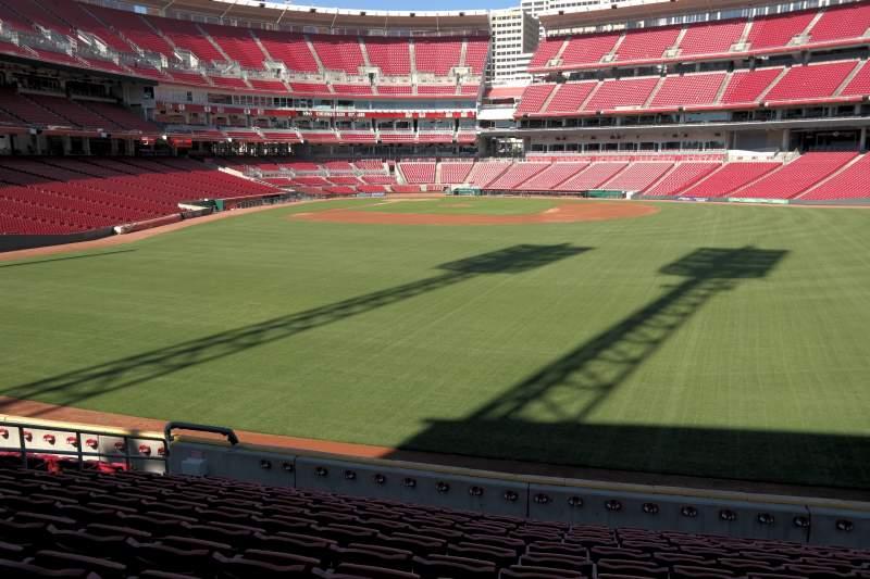 Vista sentada para Great American Ball Park Secção 143 Fila J Lugar 10