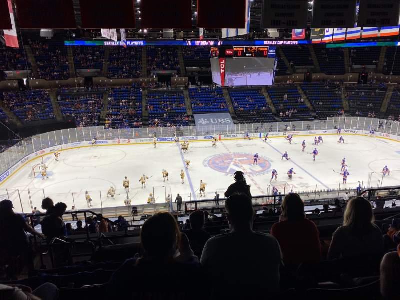 Vista sentada para Nassau Veterans Memorial Coliseum Secção 224 Fila 9 Lugar 13