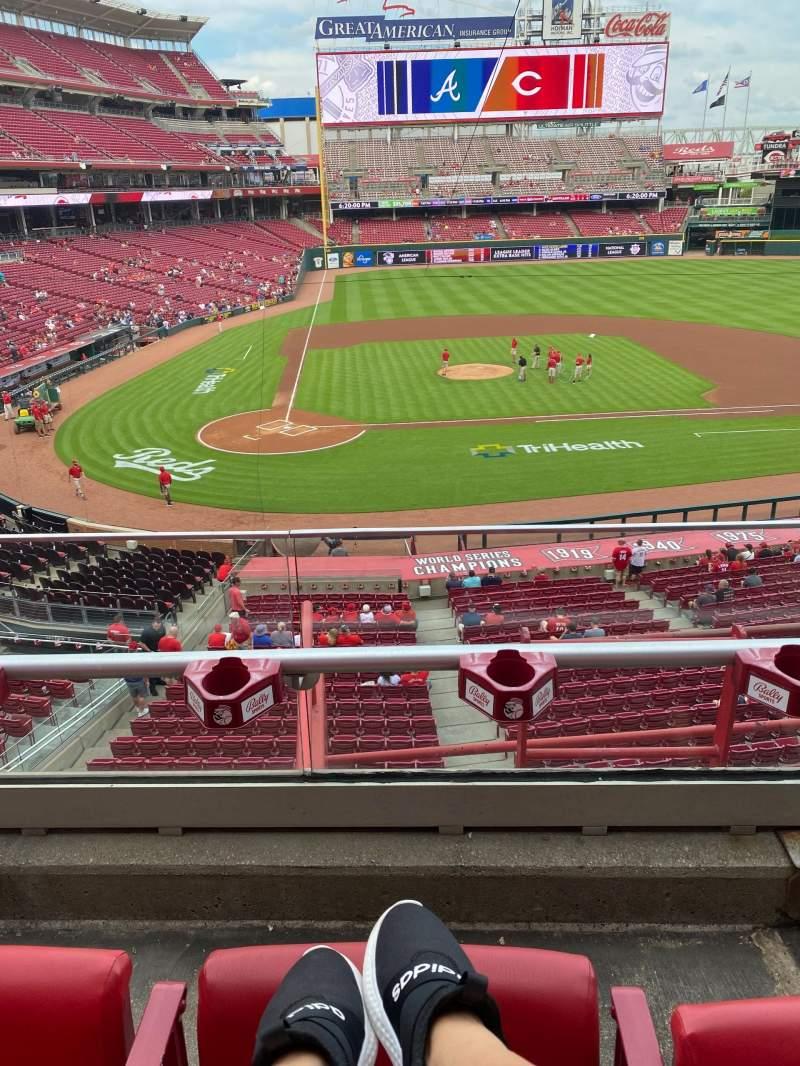 Vista sentada para Great American Ball Park Secção 228 Fila B Lugar 2