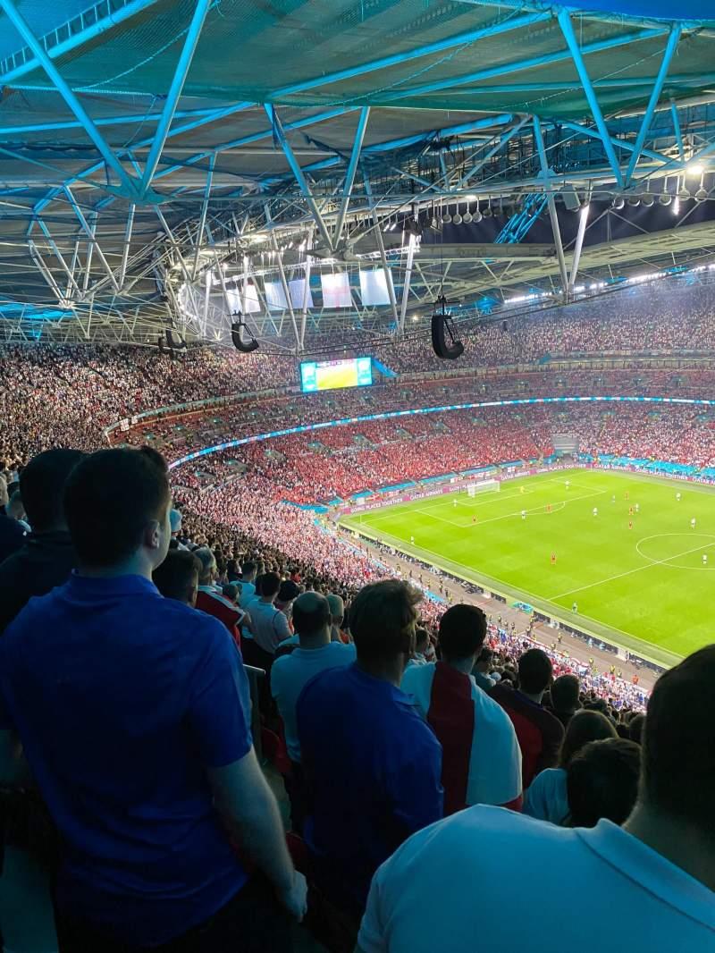 Vista sentada para Wembley Stadium Secção 522 Fila 36 Lugar 251