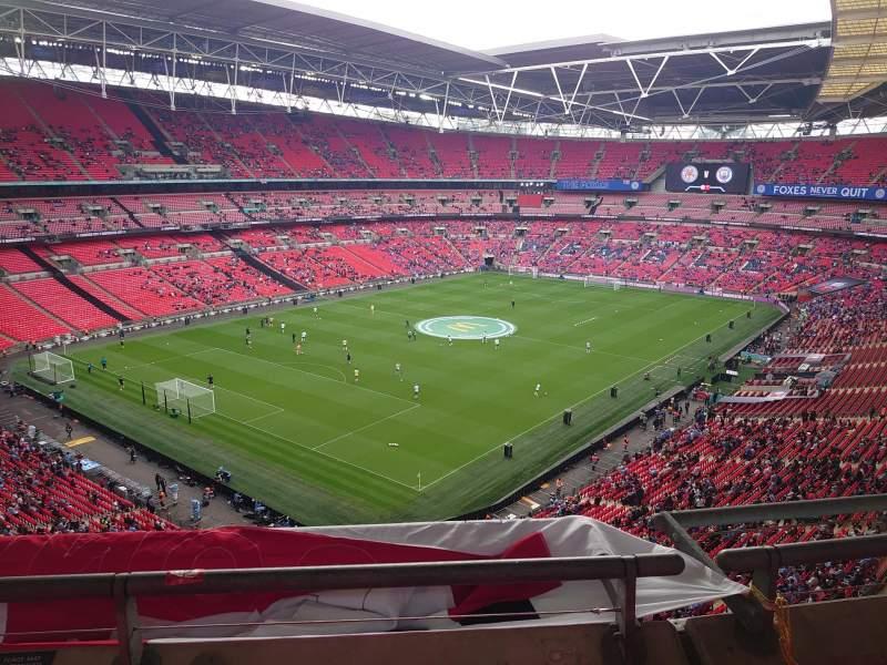 Vista sentada para Wembley Stadium Secção 508 Fila 2 Lugar 224