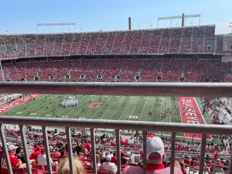Vista sentada para Ohio Stadium Secção 23D Fila 1 Lugar 1