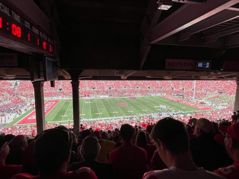 Vista sentada para Ohio Stadium Secção 22B Fila 13 Lugar 19