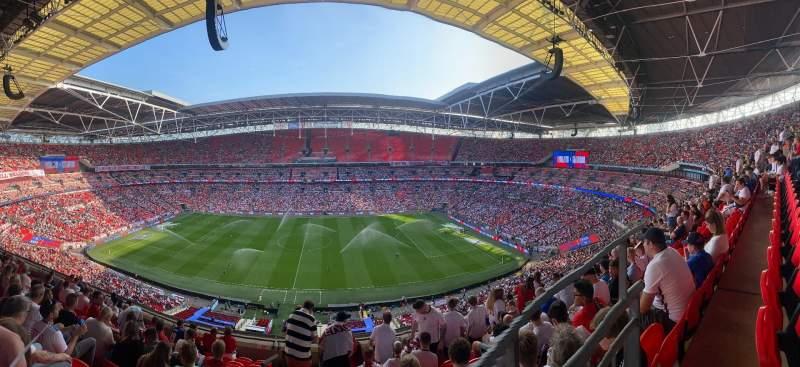 Vista sentada para Wembley Stadium Secção 552 Fila 7 Lugar 380