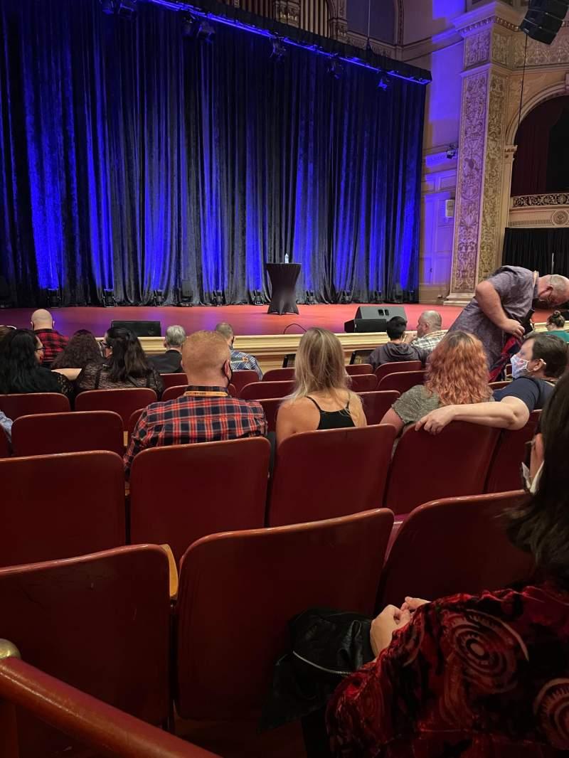 Vista sentada para Carnegie Music Hall Of Oakland Secção Circle 2 Fila A Lugar 3