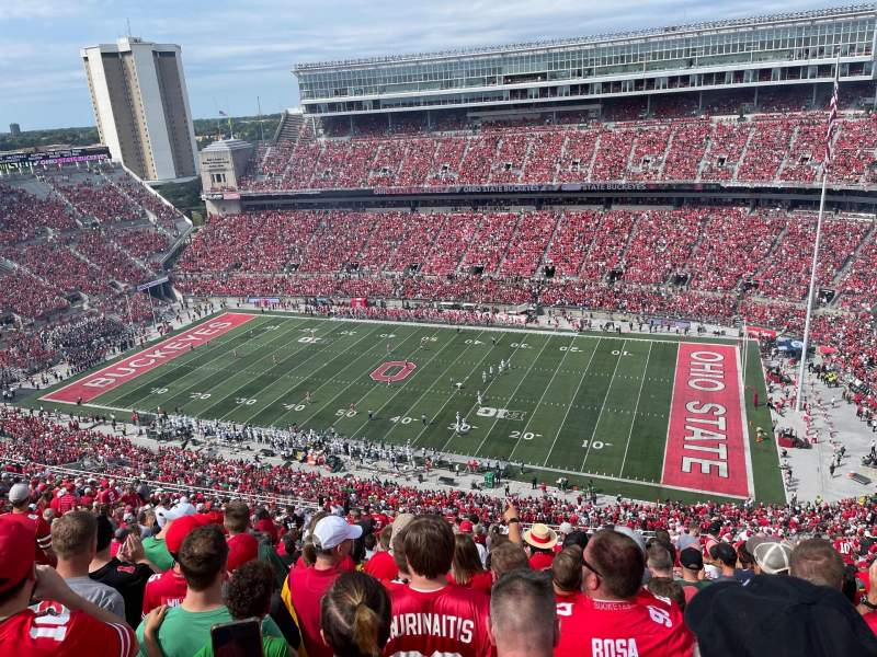 Vista sentada para Ohio Stadium Secção 16C Fila 37 Lugar 25