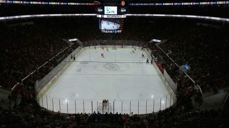 Vista sentada para PNC Arena Secção 212 Fila E Lugar 4
