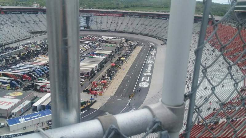 Vista sentada para Bristol Motor Speedway Secção Wallace Tower C Fila 1 Lugar 1