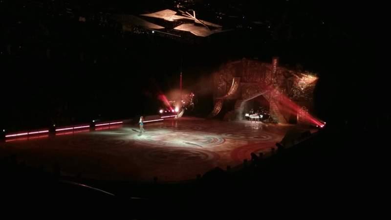 Vista sentada para Greensboro Coliseum Secção 120 Fila NN Lugar 11