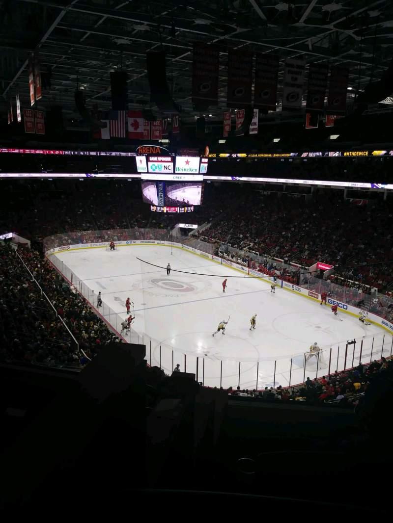 Vista sentada para PNC Arena Secção 214 Fila E Lugar 12
