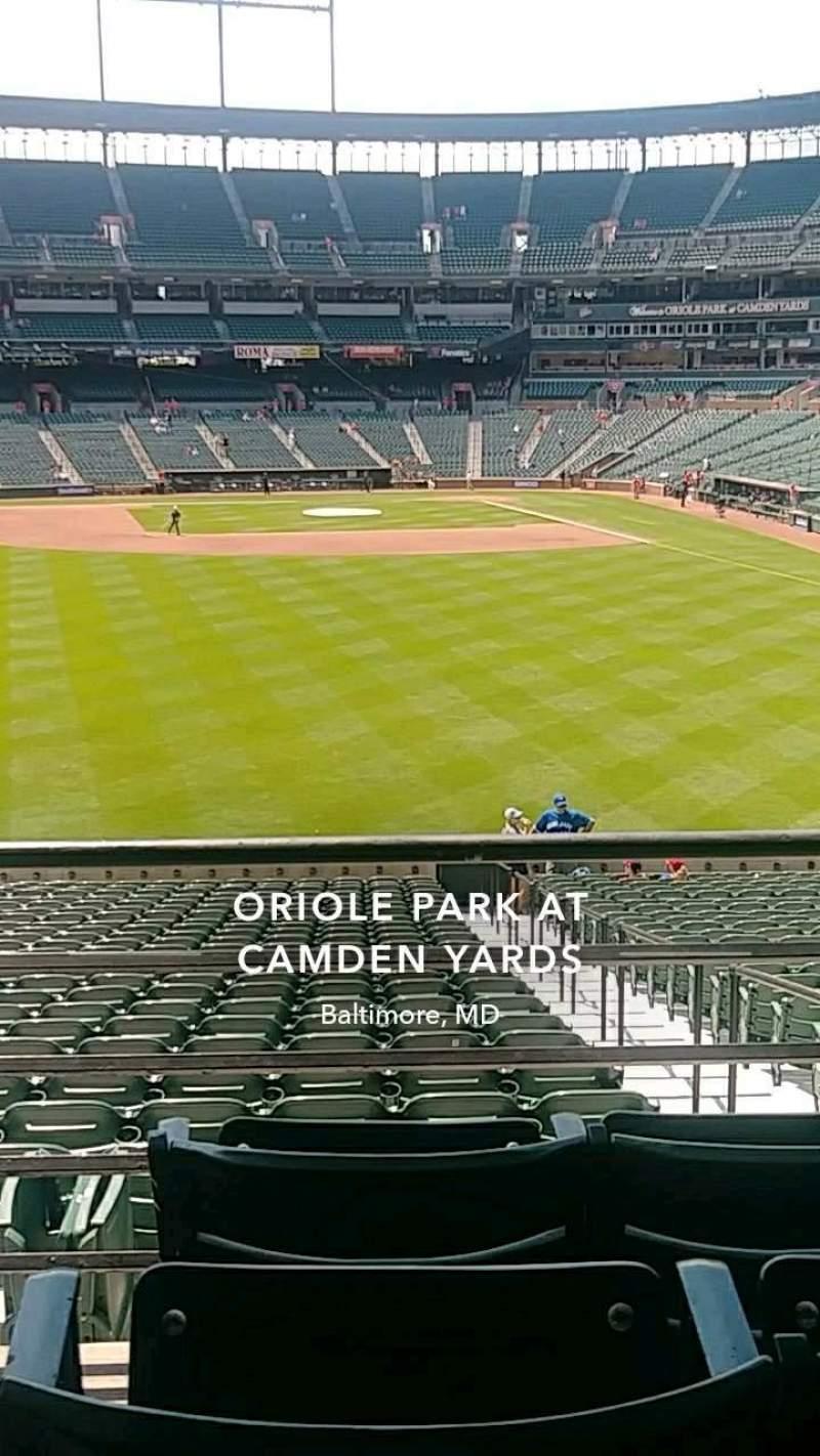 Vista sentada para Oriole Park at Camden Yards Secção 83 Fila 4 Lugar 15