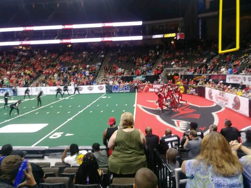 Vista sentada para VyStar Veterans Memorial Arena Secção 108 Fila G Lugar 4