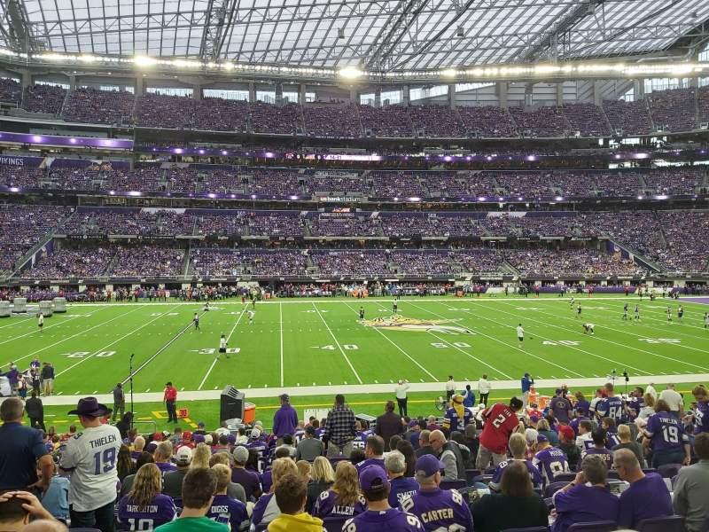 Vista sentada para U.S. Bank Stadium Secção V4 Fila 19 Lugar 13