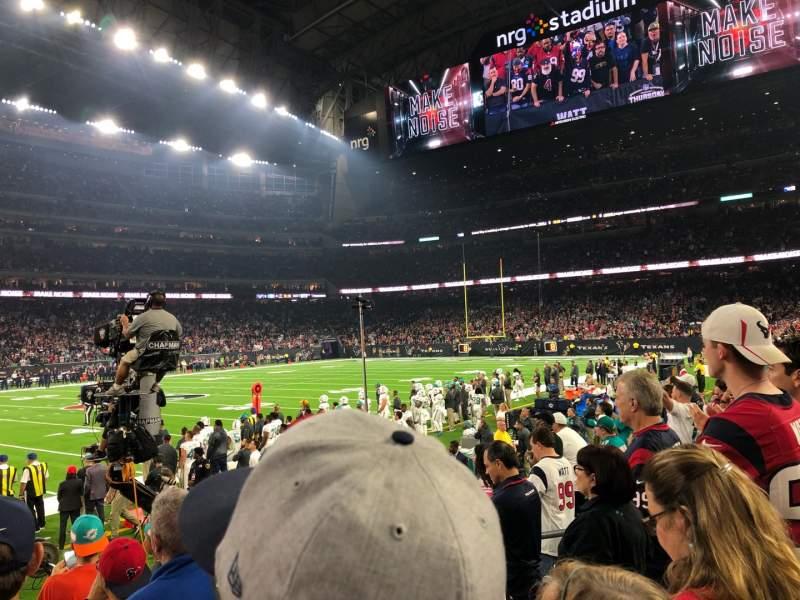 Vista sentada para NRG Stadium Secção 129 Fila F Lugar 7-8