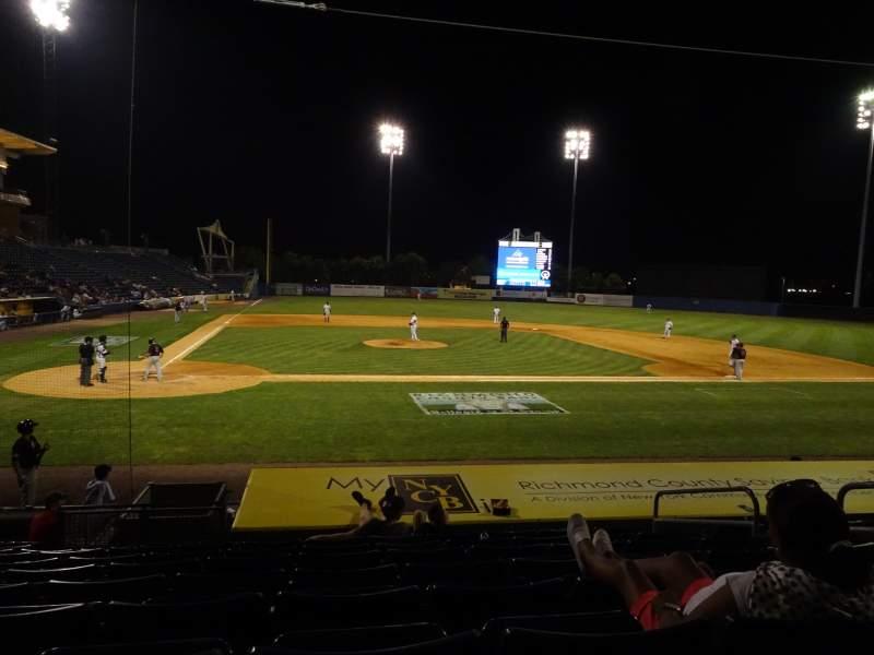 Vista sentada para Richmond County Bank Ballpark Secção 11 Fila M Lugar 3