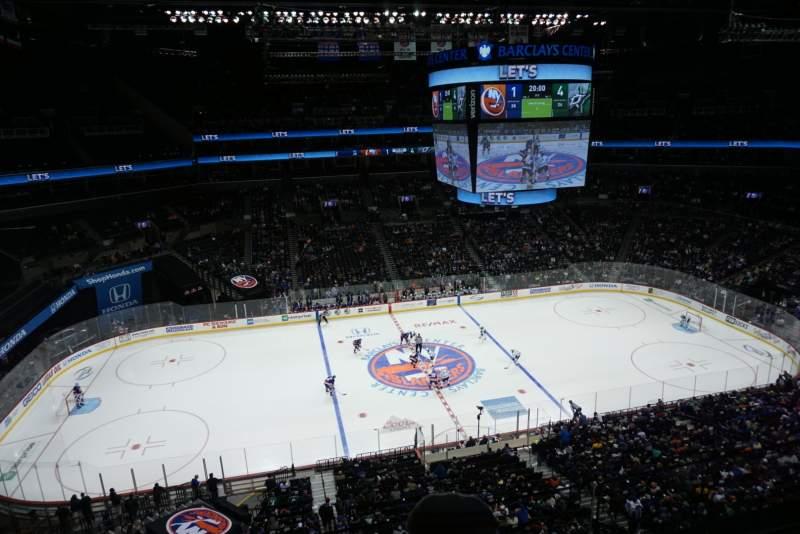Vista sentada para Barclays Center Secção 226 Fila 2 Lugar 8