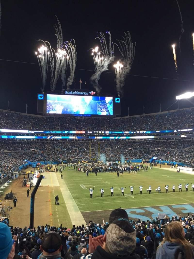 Vista sentada para Bank of America Stadium Secção 232 Fila 4 Lugar 7
