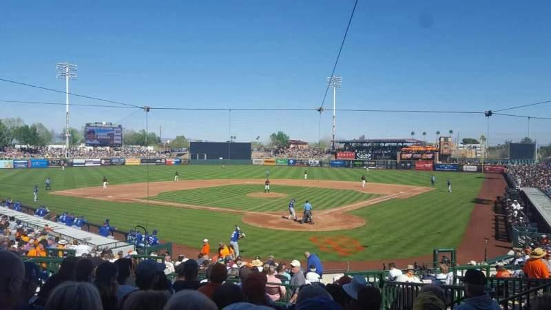 Vista sentada para Scottsdale Stadium Secção 301 Fila 3 Lugar 7