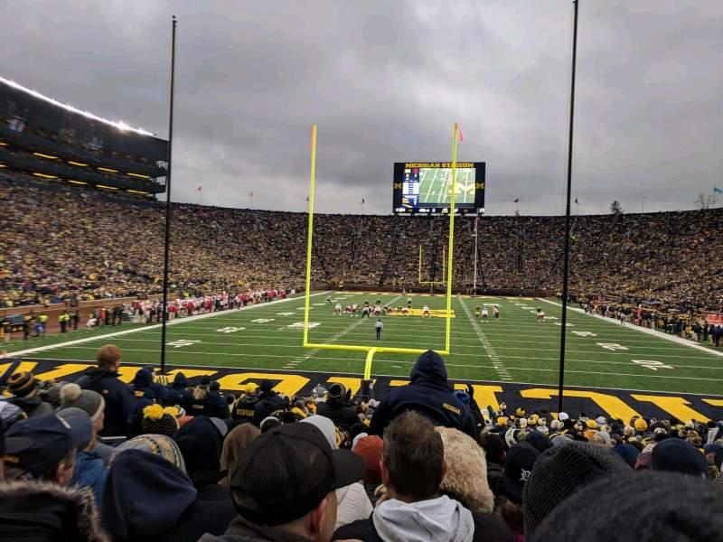 Vista sentada para Michigan Stadium Secção 34 Fila 23 Lugar 18