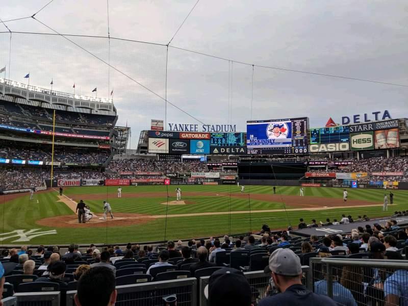 Vista sentada para Yankee Stadium Secção 118 Fila 4 Lugar 3