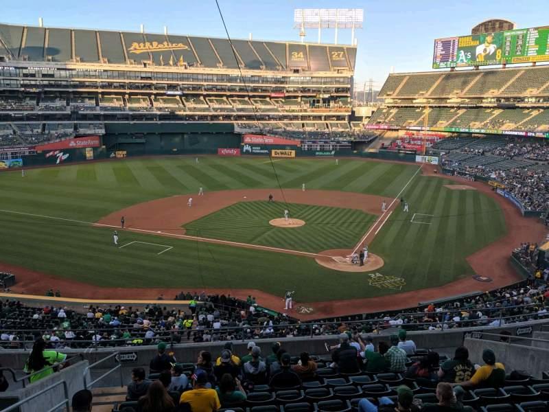 Vista sentada para Oakland Coliseum Secção Club Suite 38 Fila 1 Lugar 3