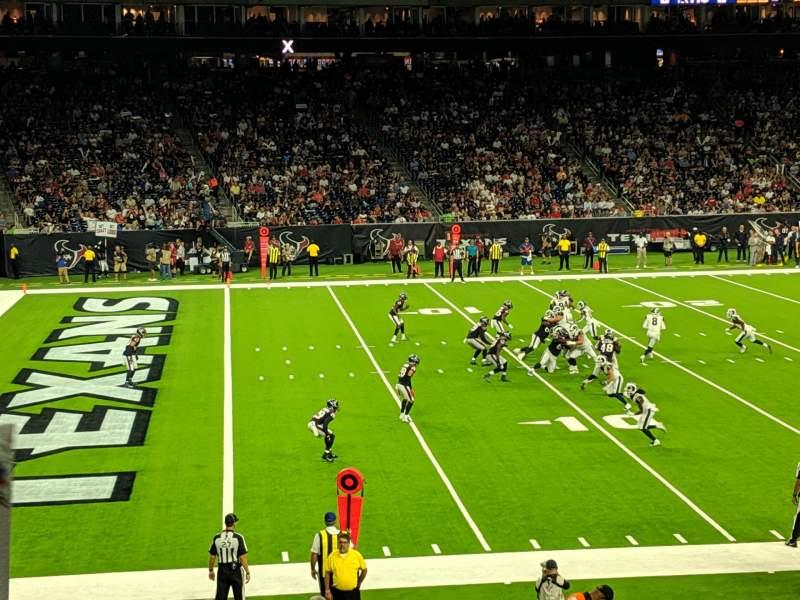 Vista sentada para NRG Stadium Secção 130 Fila X Lugar 19