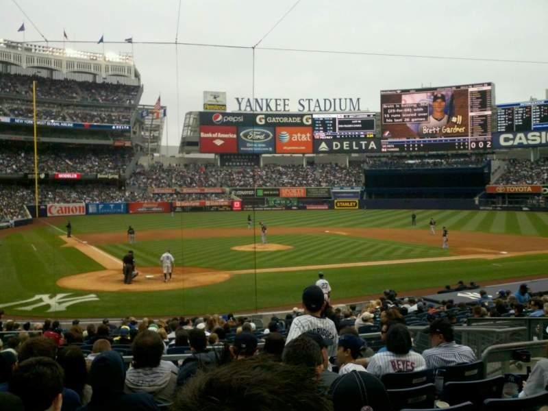 Vista sentada para Yankee Stadium Secção 118 Fila 21 Lugar 9