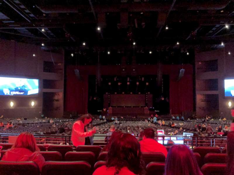 Vista sentada para Microsoft Theater Secção Loge Center Fila F Lugar 312