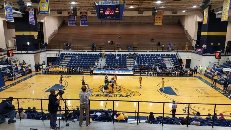 Vista sentada para Corbett Sports Center Secção GA