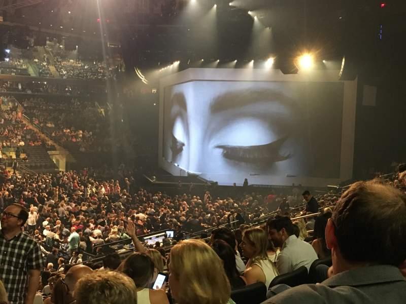 Vista sentada para Madison Square Garden Secção 106 Fila 17 Lugar 3