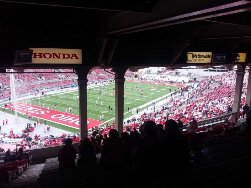 Vista sentada para ohio stadium Secção 7b Fila 17 Lugar 19