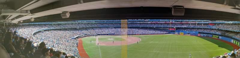 Vista sentada para Rogers Centre Secção 209L Fila 13 Lugar 105