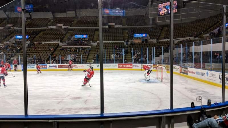 Vista sentada para UW-Milwaukee Panther Arena Secção 205 Fila 4 Lugar 4