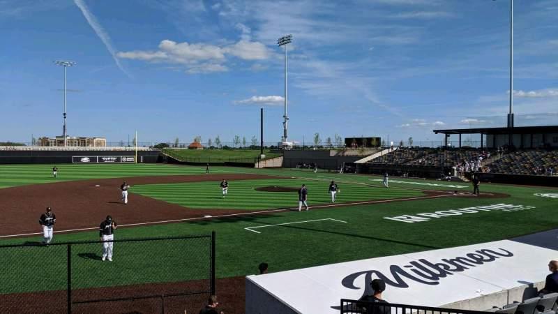 Vista sentada para Franklin Field (Wisconsin) Secção 101 Fila J Lugar 10