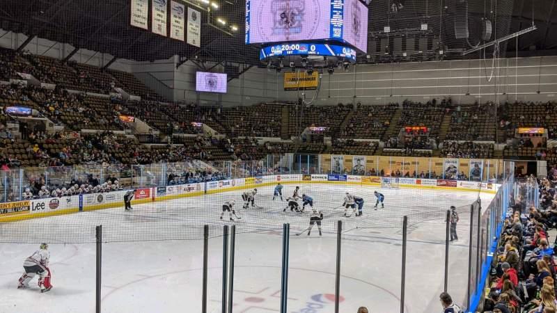 Vista sentada para UW-Milwaukee Panther Arena Secção 230 Fila 5 Lugar 11