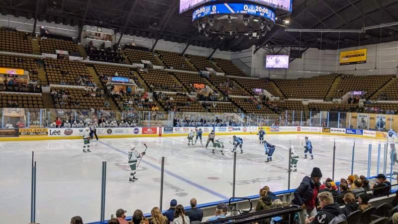 Vista sentada para UW-Milwaukee Panther Arena Secção 226 Fila 6 Lugar 10