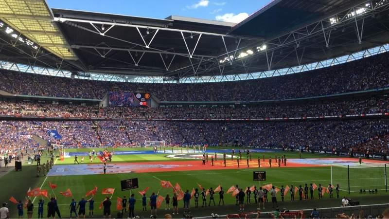 Vista sentada para Wembley Stadium Secção 110