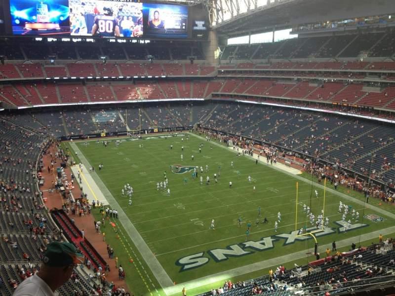 Vista sentada para NRG Stadium Secção 524 Fila L Lugar 22