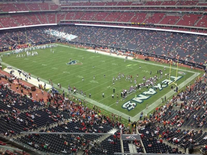 Vista sentada para NRG Stadium Secção 501 Fila I Lugar 18