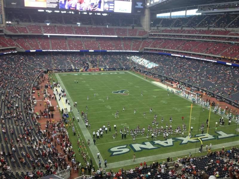 Vista sentada para NRG Stadium Secção 550 Fila G Lugar 14